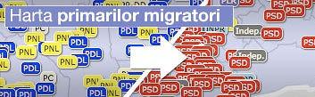 harta primarilor migratori