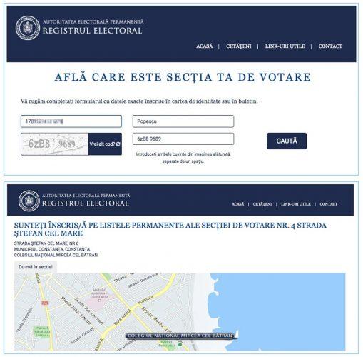 verificare circumscriptie in registrul electoral