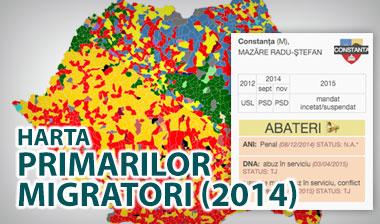 harta primarilor clientelari